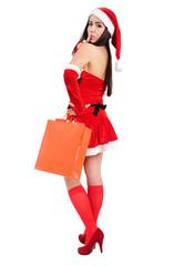 Isolated Christmas Girl