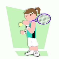 tennis player cartoon