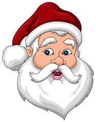 Confused Santa Claus Face Side View