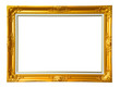 Vintage photo frame over white background , clipping path