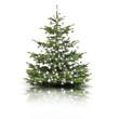 Weihnachtsbaum mit silbernen Kugeln