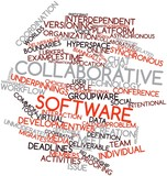 Word cloud for Collaborative software poster