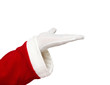 Santa Claus open hand isolated on white background