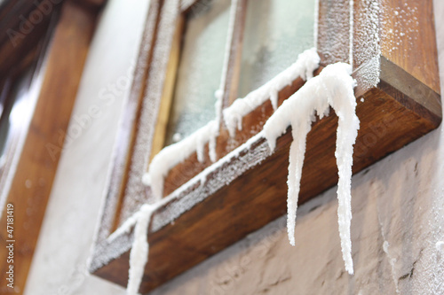 Window Icicles hanging