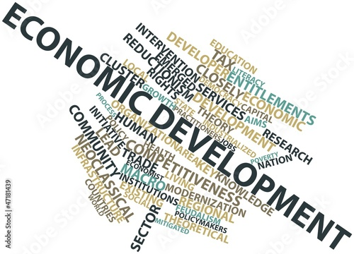 Word cloud for Economic development