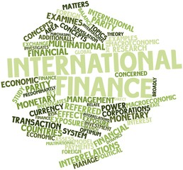 Word cloud for International finance