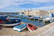 Panoramic view of Gallipoli. Puglia. Italy.