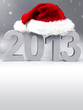 Voucher for christmas and new year with mitre