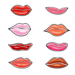 Lips icon set