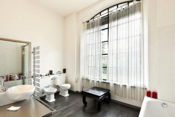 beautiful house, interior, view of the bathroom