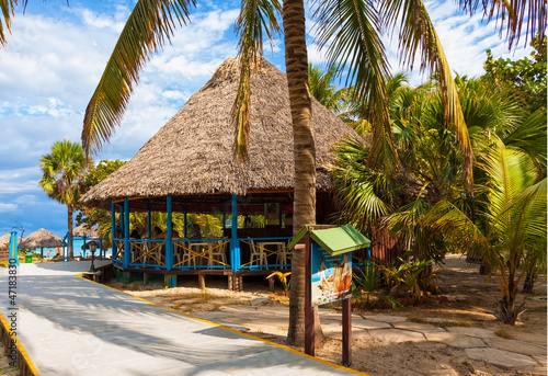 Seaside bar in the cuban beach in Varadero