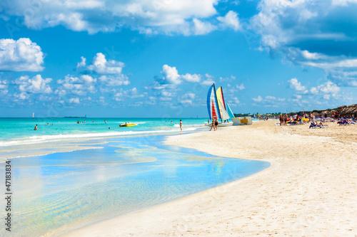 Fotobehang Caraïben The famous beach of Varadero in Cuba