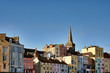 View of colourfully painted houses in Tenby.