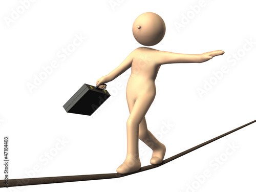 High risk business, such as tightrope