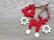 Rentier, Weihnachbaum und Sterne