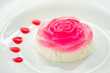 Milk jelly in a rose