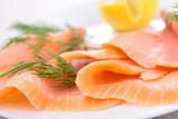 Fototapety smoked salmon