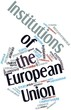 Постер, плакат: Word cloud for Institutions of the European Union