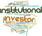 Word cloud for Institutional investor poster