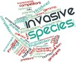 Word cloud for Invasive species