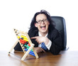 funny business woman laughing loud