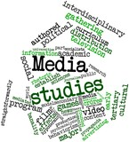 Word cloud for Media studies