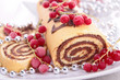 decorated christmas pastry
