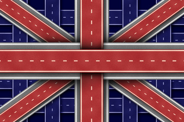 Great Britain Road Flag