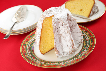 pandoro, traditional italian christmas cake
