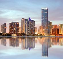 "Постер, картина, фотообои ""Miami Florida buildings panorama"""