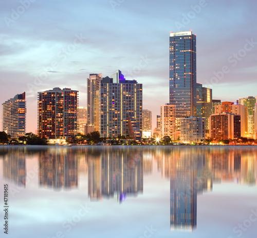 Miami Florida buildings panorama