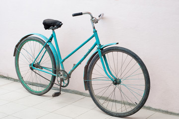 Old Soviet bike. Horizontal frame