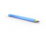 blue pencil poster