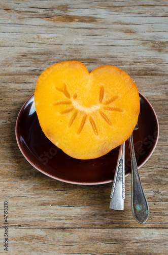 Heart-Shaped Persimmon