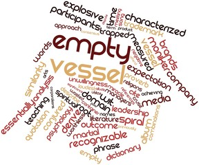 Word cloud for Empty vessel