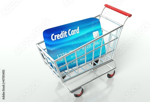 Credit card payment with shopping cart