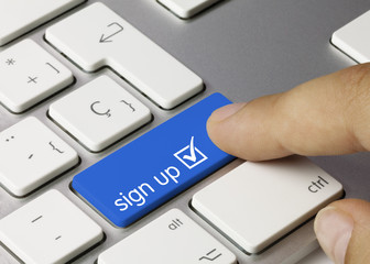 Sign up keyboard key