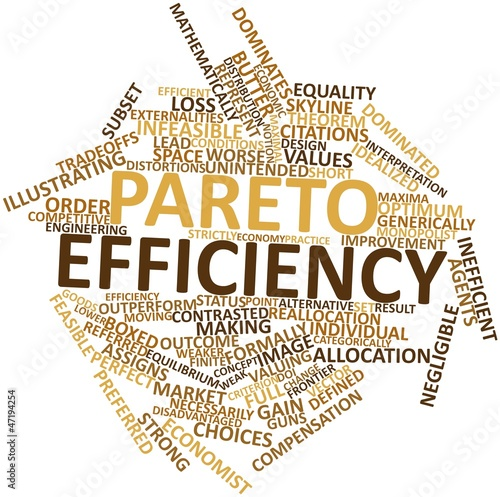 Word cloud for Pareto efficiency