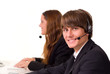 Junger weiblicher Call Center Agent