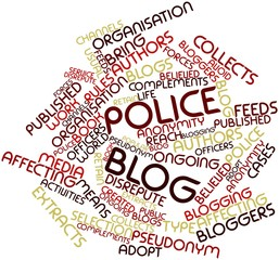 Word cloud for Police blog