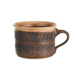 Old brown cup isolated