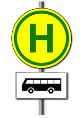 Schild Bushaltestelle