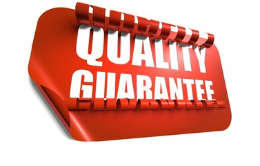 Quality guarantee concept, cut out in background