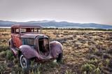 Fototapety Voiture vintage abandonnée - Montana, USA