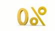 0%_das %zeichen dreht sich um die senkrechte Achse - 3D Video