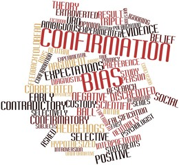 Word cloud for Confirmation bias
