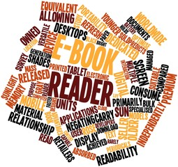 Word cloud for E-book reader