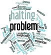 Word cloud for Halting problem