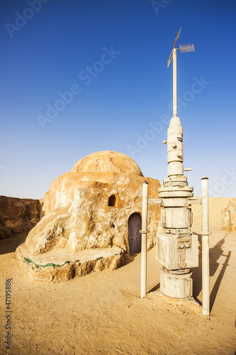 Aluminium Tunesië Star wars movie decoration in the Sahara Desert, Tunisia