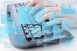 Computer keyboard conceptual image